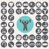 Icônes de mode de vie réglées Images libres de droits