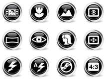 Icônes de modes de photo réglées Images stock