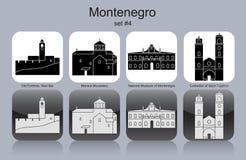 Icônes de Monténégro illustration stock