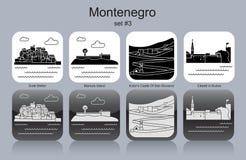 Icônes de Monténégro illustration libre de droits
