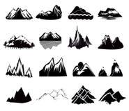 Icônes de montagne illustration de vecteur