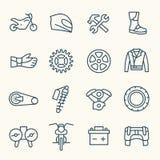 Icônes de moto Photographie stock libre de droits