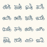 Icônes de motos Photos libres de droits