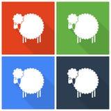 Icônes de moutons de Noël Photo libre de droits