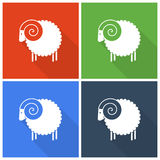 Icônes de moutons de Noël Images libres de droits