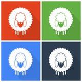 Icônes de moutons de Noël Photos libres de droits