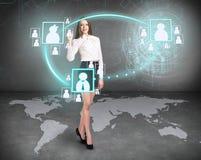 Icônes de mouvement de femme d'affaires Éléments de cette image meublés par la NASA Images stock