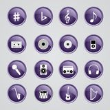 Icônes de musique Images stock