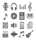 Icônes de musique Photographie stock