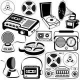 Icônes 3 de musique de vintage Images stock