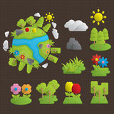 Icônes de nature Image libre de droits
