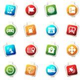 Icônes de navigation et de transport réglées Photo stock