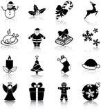 Icônes de Noël Photographie stock libre de droits