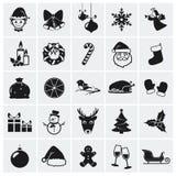 Icônes de Noël. Illustration de vecteur.
