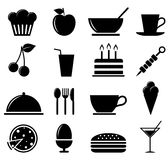 Icônes de nourriture Photographie stock
