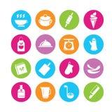 Icônes de nourriture illustration libre de droits