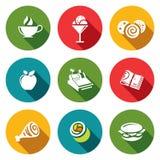 Icônes de nourriture de vecteur réglées Photo libre de droits
