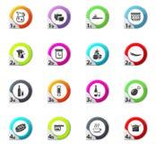 Icônes de nourriture et de cuisine réglées Image stock