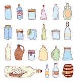 Icônes de nourriture réglées, illustration de vecteur Image libre de droits