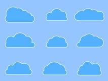 Icônes de nuage de Web dans différentes formes Image stock