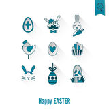Icônes de Pâques de célébration Images libres de droits