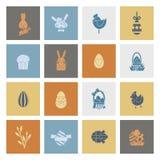 Icônes de Pâques de célébration Photo stock