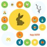 Icônes de Pâques de célébration Photographie stock libre de droits