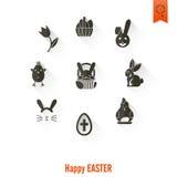 Icônes de Pâques de célébration Photographie stock