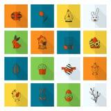 Icônes de Pâques de célébration Photos stock