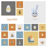 Icônes de Pâques de célébration Photos libres de droits