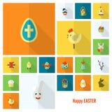 Icônes de Pâques de célébration Images stock