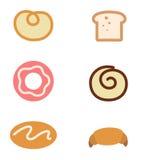 Icônes de pain Photos libres de droits