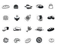 Icônes de pain illustration stock