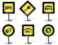 Icônes de panneau routier Photo stock