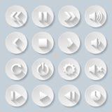 Icônes de papier Image stock