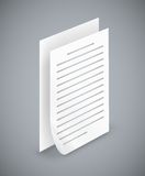 Icônes de papier de feuille Images libres de droits