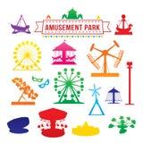 Icônes de parc d'attractions Photos stock