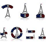 Icônes de Paris Image libre de droits