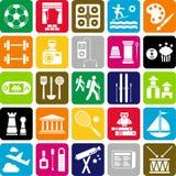 Icônes de passe-temps Photo libre de droits