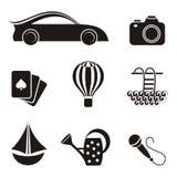 Icônes de passe-temps et de loisirs Images stock