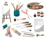 Icônes de peintre réglées illustration stock