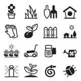 Icônes de pelouse Photographie stock