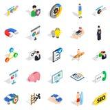 Icônes de personne réglées, style isométrique Photos libres de droits