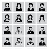 Icônes de personnes Photographie stock