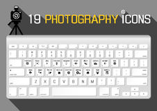 Icônes de photographie Photos stock
