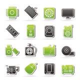 Icônes de pièce d'ordinateur Photos stock