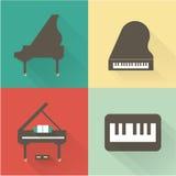 Icônes de piano Photos stock