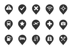 Icônes de Pin Images stock