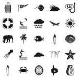 Icônes de piqué réglées, style simple illustration libre de droits