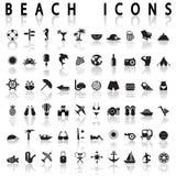 Icônes de plage Photos stock